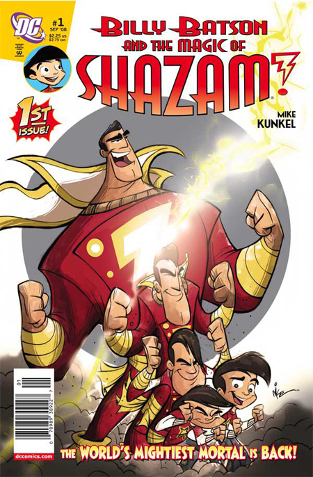 "This is the cover of the first issue of Mike Kunkel's ""Shazam"" comic book. A bi-monthly, there are four issues available for you to catch up on!"