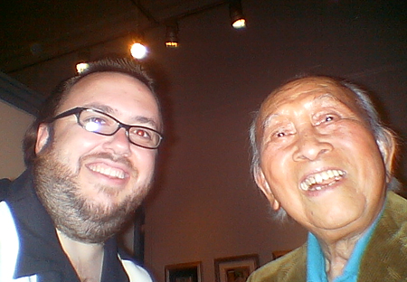 Chad Frye with the legendary Tyrus Wong who had worked on &quot;Bambi&quot; back in the day, and had an amazing career later with designing cards.