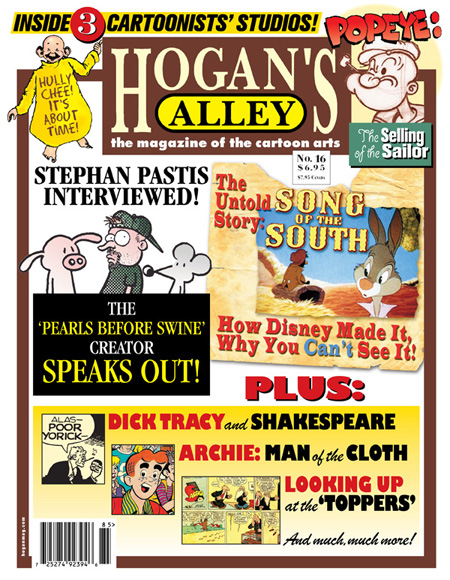 "This is the cover of the current issue of the great ""Hogan's Alley"" magazine!"