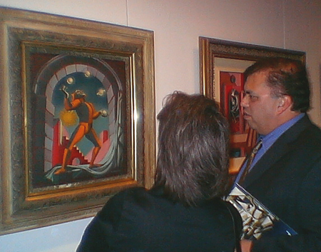 Some folks checking out another of Marc Davis' paintings.