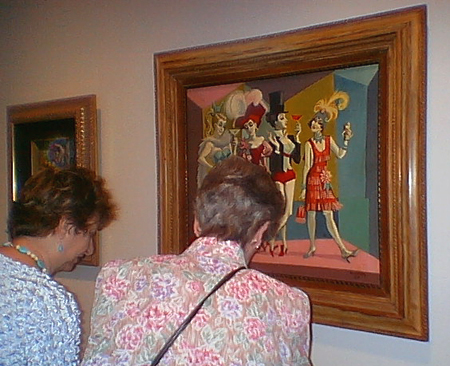 Some women taking a look at a Marc Davis painting of some women. Profound, I know.
