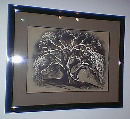 "Marc Davis' original painting of a tree he did in the short film made for the ""Disneyland"" television program called ""4 Artists Paint 1 Tree""."