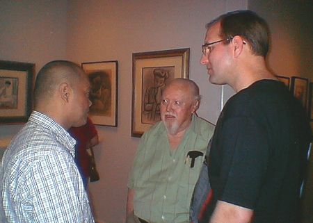 Animation colleagues Pres Romanillos, Bill Matthews, and Tony Bancroft.