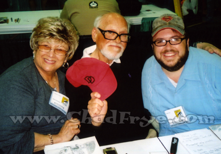 The Great Silver Age comic book artist Gene Colan with his wife Adrienne and Chad Frye.
