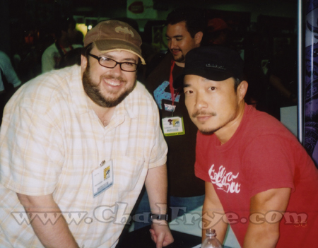 Chad Frye with terrific artist Jim Lee.
