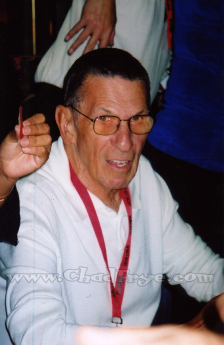 Sometimes you'd see the real deal on the show floor. Leonard Nimoy was there for several days cleaning up signing autographs at $60 a pop.