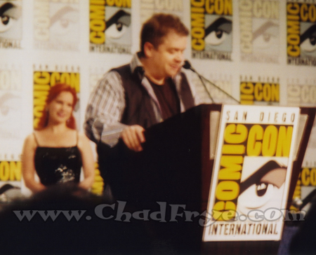 Comedian and voice of Ratatouille Patton Oswalt at the Eisners. The Eisners were hosted by my friend Bill Morrison who strangely is not in any of my photos, but his lovely wife Kayre is here in the background as she tended the trophies.