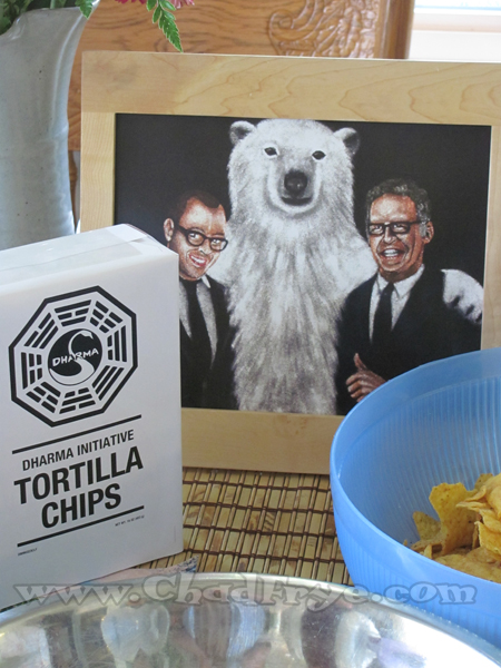 "Many details were a part of the set such as food items with Dharma Initiative labels, and this drawing of ""LOST"" producers Damon Lindelof and Carlton Cuse with a polar bear."