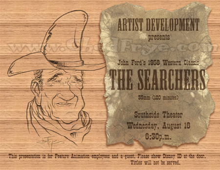 The Searchers Disney flyer
