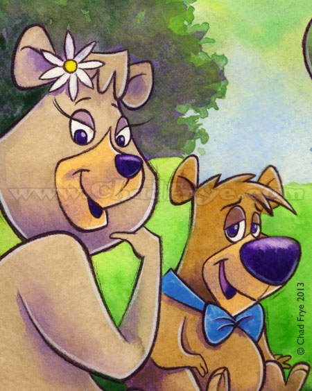 Yogi Bear original art