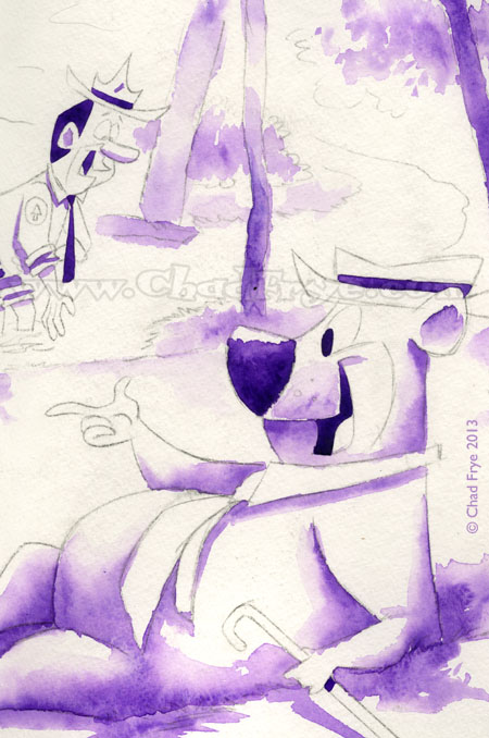 Purple Yogi Bear