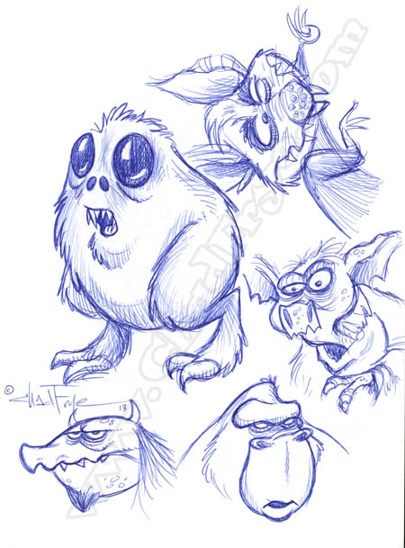cute creature sketches