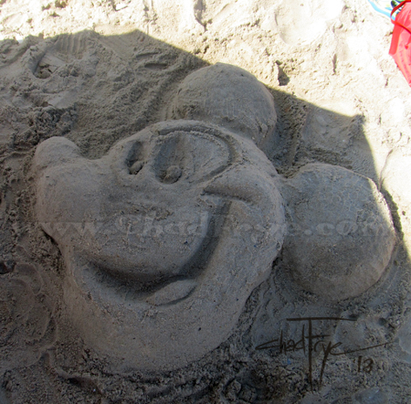 Mickey Mouse sand sculpture