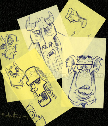 Post It Monsters